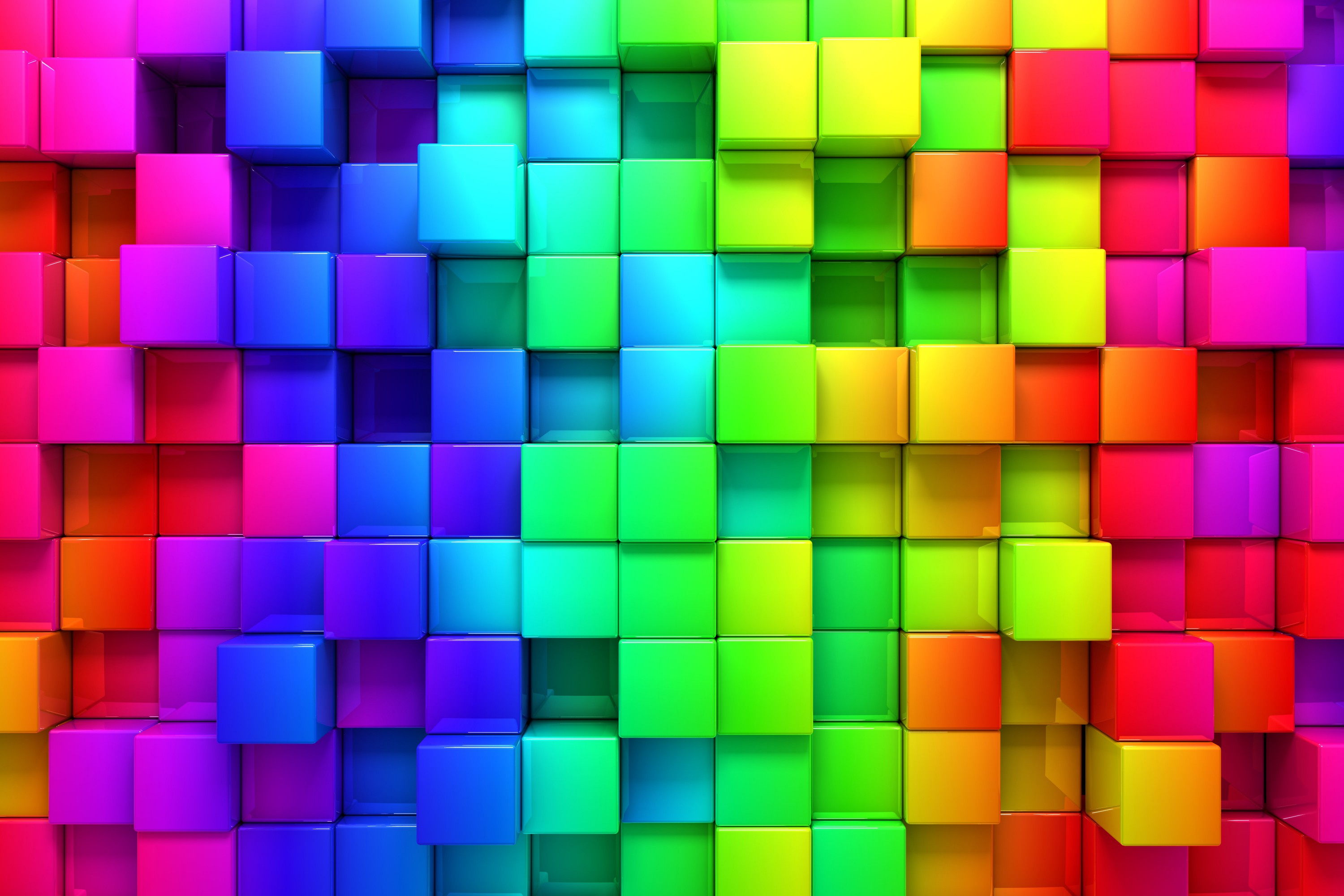 Blocks rainbow 3d graphics background 76559 6000 4000 hd wallpapers download - Wallpaper 3000 x 4000 ...