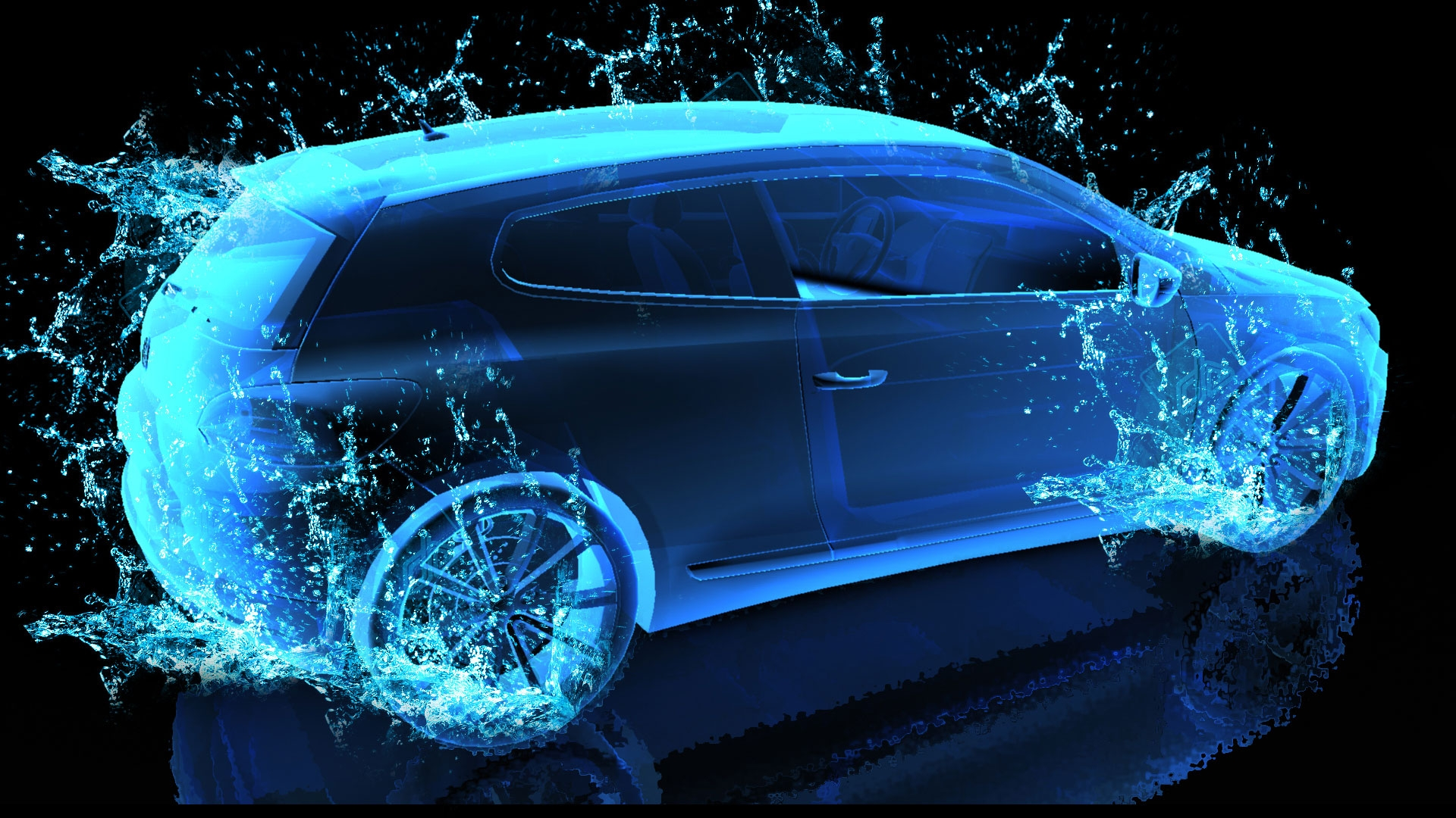 Cars Lights Neon 83452 1920 1080 Hd Wallpapers Download